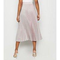 Pink Glitter Pleated Midi Skirt New Look