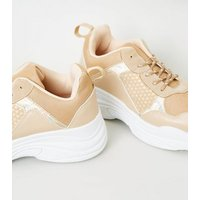 Nude Colour Block Chunky Sole Trainers New Look
