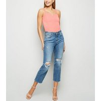 Coral Notch Neck Cross Back Bodysuit New Look