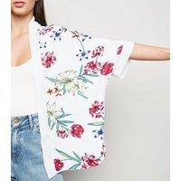Mela Off White Floral Kimono New Look