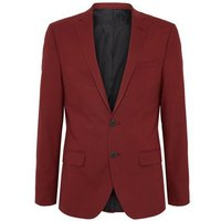 Dark Red Skinny Suit Jacket New Look