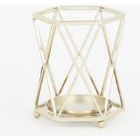 Gold Diamond Wire Lantern New Look