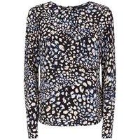 black-leopard-print-button-back-blouse-new-look