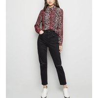 Pink Leopard Print Long Sleeve Shirt New Look