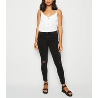 Petite Black Ripped Skinny Jeans New Look