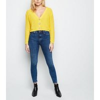 mustard-pointelle-cropped-cardigan-new-look
