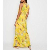 Mela Yellow Tropical Maxi Dress New Look