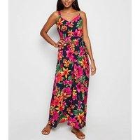 Mela Multicoloured Tropical Print Maxi Dress New Look