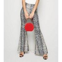 Red Suedette Round Shoulder Bag New Look