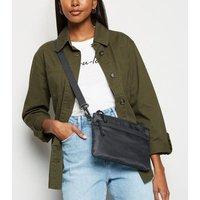 Black Mesh Pocket Cross Body Bag New Look