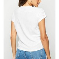 cream-ruched-front-fine-knit-top-new-look