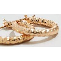 Gold Hammered Mini Hoop Earrings New Look