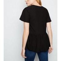 black-textured-peplum-top-new-look