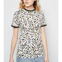 Tall White Leopard Print Short Sleeve T-Shirt New Look