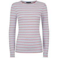 Pale Blue Stripe Ribbed Long Sleeve Top New Look