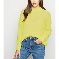Yellow Knitted Long Sleeve Jumper New Look
