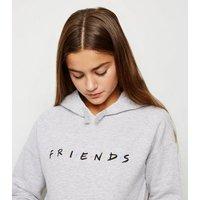 Girls Grey Friends Slogan Hoodie New Look