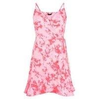 Pink Tie Dye Beach Wrap Dress New Look
