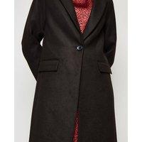 Black Revere Collar Coat New Look