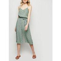 Brave Soul Mint Green Spot Culotte Jumpsuit New Look