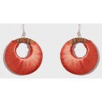 WANTED Orange Wrapped Hoop Earrings New Look