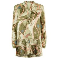 Cameo Rose Green Chain Print Tunic Top New Look