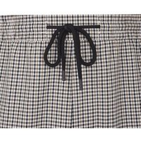 Mens Stone Gingham Pull On Trousers New Look