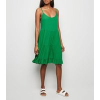 Green Cheesecloth Tiered Sundress New Look