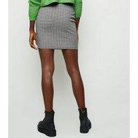 Tall Black Gingham Mini Tube Skirt New Look