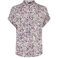 Pink Leopard Print Short Sleeve Shirt New Look