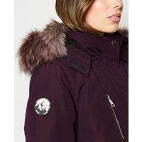 Maternity Dark Purple Faux Fur Parka New Look