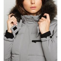 Tall Pale Grey Puffer Jacket New Look