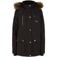 Tall Black Faux Fur Trim Parka Jacket New Look