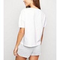 White Logo Friends Pyjama Set New Look