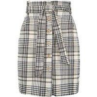 Black Check High Waist Mini Skirt New Look