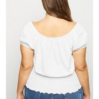 Curves White Milkmaid Top New Look
