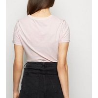 Pink Wild Ones Acid Wash T-Shirt New Look