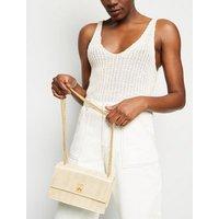 Gold Chevron Chain Shoulder Bag New Look
