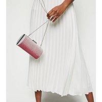 Pink Ombré Diamanté Clutch Bag New Look
