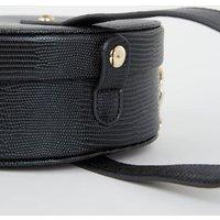 Black Leather-Look Round Shoulder Bag New Look