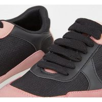 Black Colour Block Chunky Trainers New Look