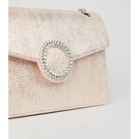 Pink Faux Snake Chain Shoulder Bag New Look