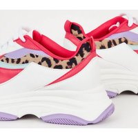 Multicoloured Colour Block Chunky Trainers New Look