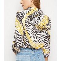 Yellow Mixed Animal Print Long Sleeve Shirt New Look