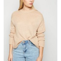 Petite Camel Crew Neck Jumper New Look