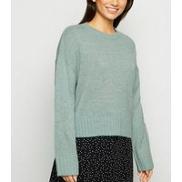 Petite Green Crew Neck Jumper New Look