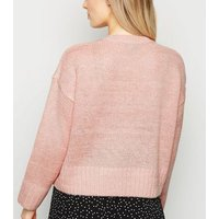 Petite Mid Pink Crew Neck Jumper New Look
