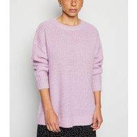 Petite Lilac Longline Knit Jumper New Look