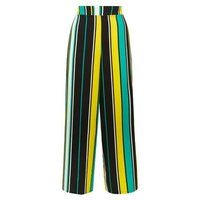 Cameo Rose Yellow Stripe Print Culottes New Look