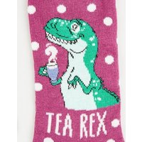 Purple Tea Rex Spot Socks New Look